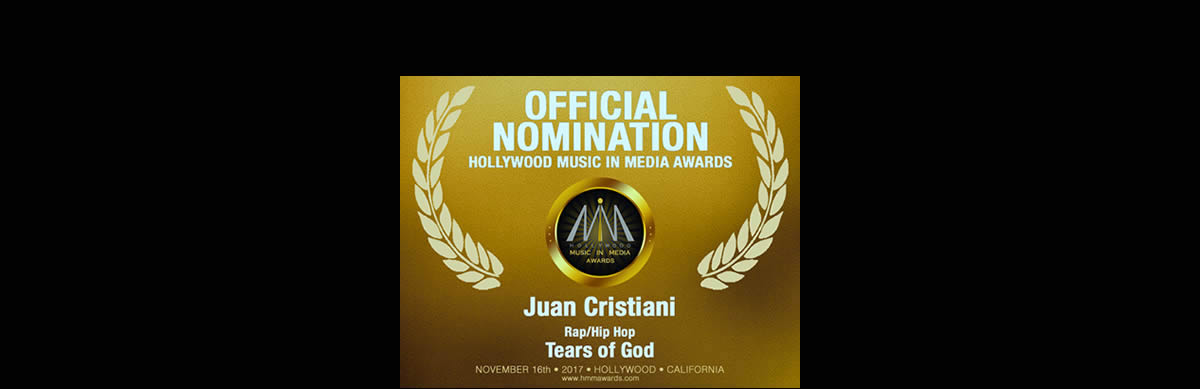 Official Nomination Hollywood Music in Media Awards - Juan Cristiani Tears of God
